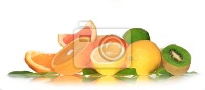 Bild Frisches Obst auf weißem Hintergrund, perfekt isoliert