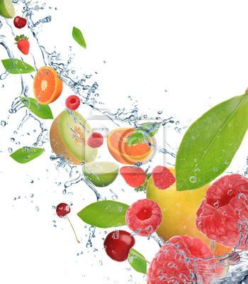 Bild Frisches Obst in Bewegung