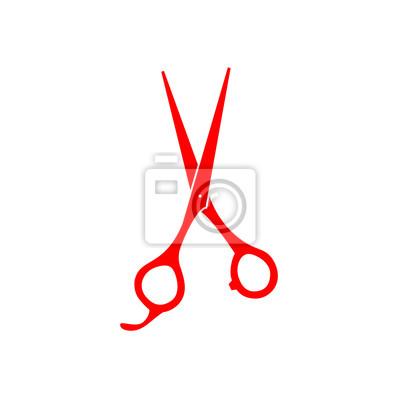 Friseur Schere Vektor Icon Leinwandbilder Bilder Barbershop