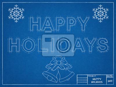 Bild Frohe Feiertage Blueprint