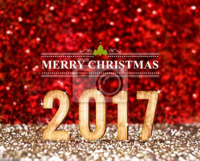 Vintage Bilder Weihnachten.Bild Frohe Weihnachten 2017 3d Rendering Jahr In Vintage Rot Und