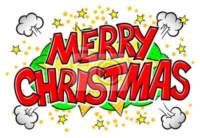Comic Frohe Weihnachten.Bild Frohe Weihnachten Comic Sprechblase