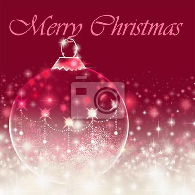 Frohe weihnachten nachricht auf rotem hintergrund mit bauble ...