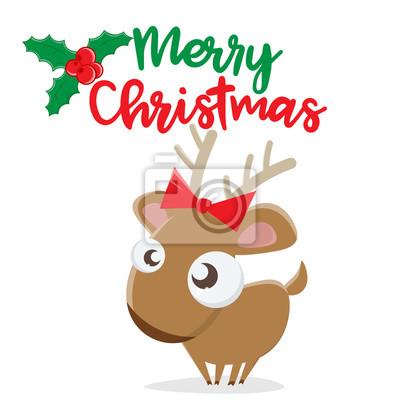 Bilder Weihnachten Clipart.Bild Frohe Weihnachten Rentier Clipart
