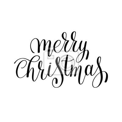 Weihnachten Schwarz Weiß Bilder.Bild Frohe Weihnachten Schwarz Weiß Handschriftliche Beschriftung