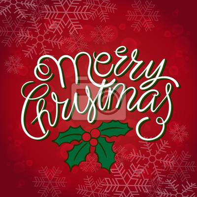 Frohe weihnachten und happy new year card. abbildung. hand ...