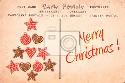 Vintage Bilder Weihnachten.Bild Frohe Weihnachten Vintage Postkarte Grußkarte