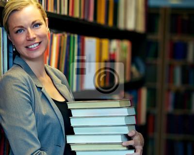 Fröhlich Bibliothekar oder Student