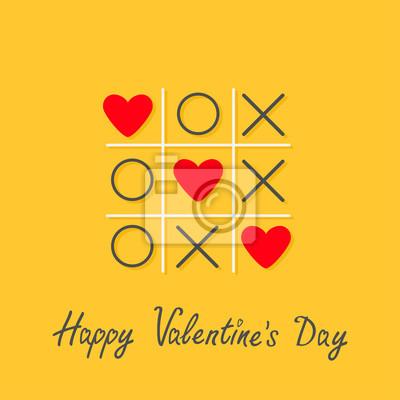 Kreuz Karte.Bild Fröhlichen Valentinstag Liebe Karte Tic Tac Toe Spiel Mit Kreuz