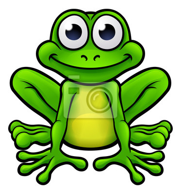 Frosch Cartoon Charakter Leinwandbilder Bilder Märchen Laubfrosch