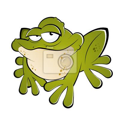 Frosch Kröte Lustig Cartoon Comic Leinwandbilder Bilder