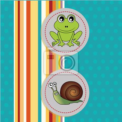 Frosch und Schnecke