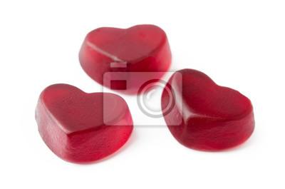 Fruchtgummi Bonbon Herz Leinwandbilder Bilder Kardialen