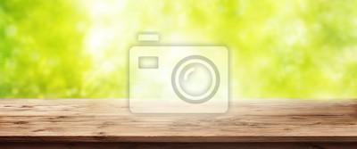 Bild Frühling Hintergrund mit Holztisch