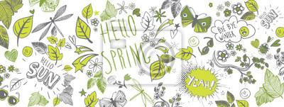 Bild Frühling kritzelt Hintergrund