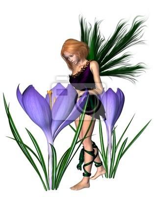 Frühlings-Krokus-Fee - Lila