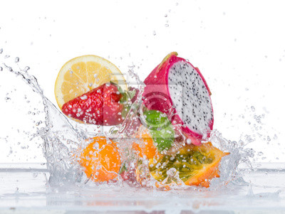 Bild Fruit with water splash