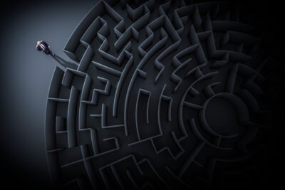 Bild Full Frame Shot Of Maze With Figurine