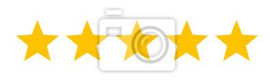 Bild Fünf Sterne Kunden Produkt Bewertung Bewertung flache Ikone für Apps und Websites