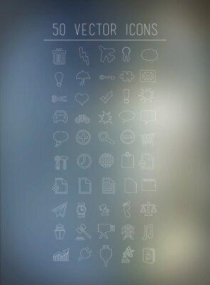 Fünfzig Business-und Technologie-Symbole