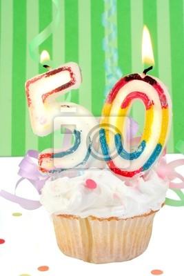fünfzigsten Geburtstag Cupcake mit weißem Zuckerguss