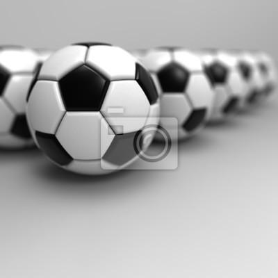 Fußball. 3D Abbildung.