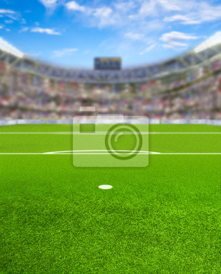 Fußball-Arena mit Fans und Textfreiraum