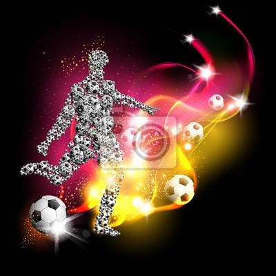 Fußball art background