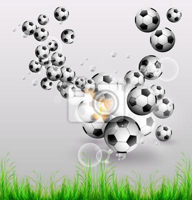 Fußball-Flyer-Design-Hintergrund, leicht bearbeitet