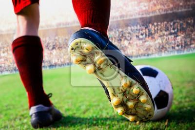 Fußball-Fußball-Aktion im Stadion
