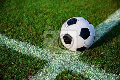 Fußball Fußball auf der Linie