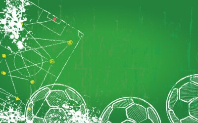 Bild Fußball / Fußball-Design-Vorlage, kostenlose Kopie Raum, Vektor-