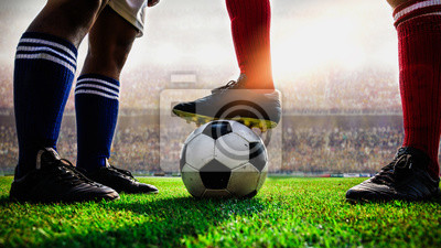 Fußball Fußballspiel Anstoß
