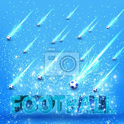 Fußball Grunge Licht Bühne Karte