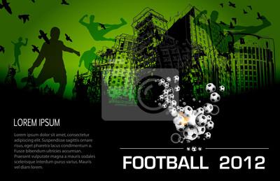 Fußball Grunge-Stadt-Plakat