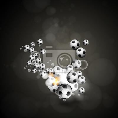 Fußball-Poster, leicht bearbeitet werden
