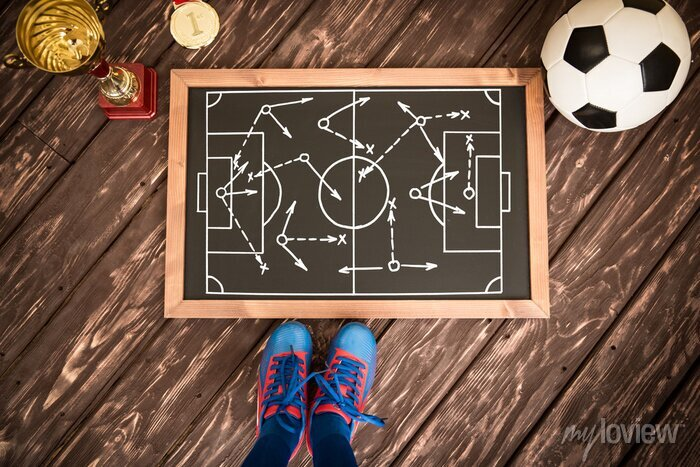 Bild Fußball-Spiel-Strategie