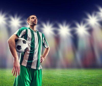 Bild Fußball-Spieler mit einem Ball