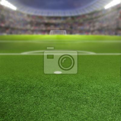 Fußball Stadium Hintergrund Mit Kopie Raum