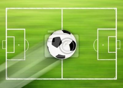 Fussballfeld Mit Fussball Leinwandbilder Bilder Repertoire