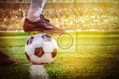 Fußballfußball startet im Stadion