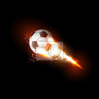 Fußballkugellichtentwurf einfaches ganz redigierbares