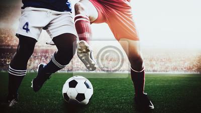 Fußballspieler während des Spiels im Stadion
