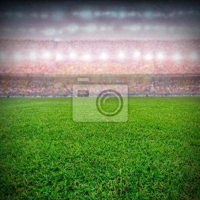 Fußballstadion und die Unterstützerhintergrund