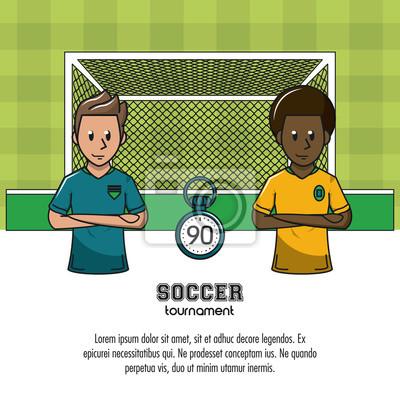 Fußballturnier infographic mit Elementvektor-Illustrationsgrafikdesign