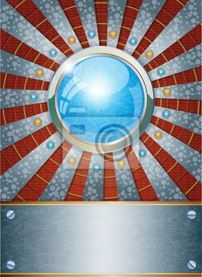 Futuristische metallischen Hintergrund. Abbildung 10 Version.