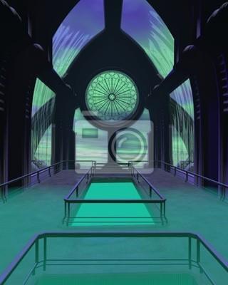 Futuristische Sci-Fi-Dombau