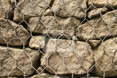 Gabionen kunststoff ummantelten draht gitterkörbe mit steinen ...