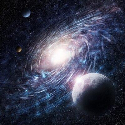 Bild galaxy blau kreative