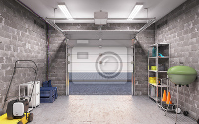 Bild Garage Innen 3D Illustration